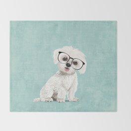 Mr Maltese Throw Blanket