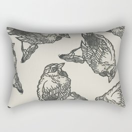 Bird Print Rectangular Pillow