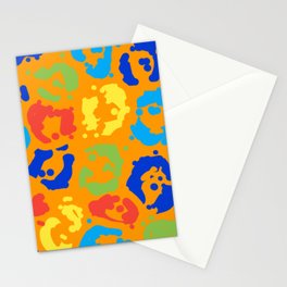 Leopard Colorful Spots Pattern Stationery Cards