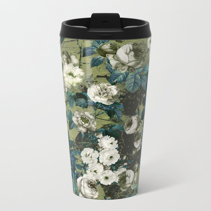 Midnight Garden Metal Travel Mug