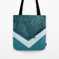silent Tote Bags featuring Blue Silent by Andrea Dalla Barba