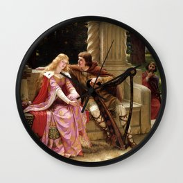 "Edmund Blair Leighton ""Tristan and Isolde"" Wall Clock"