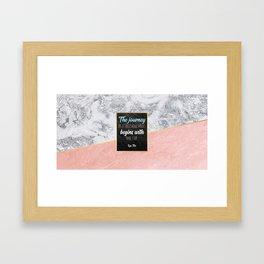 One step Framed Art Print