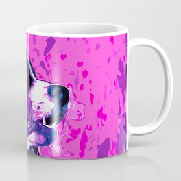 bernese mountain dog vector art purple pink Coffee Mug