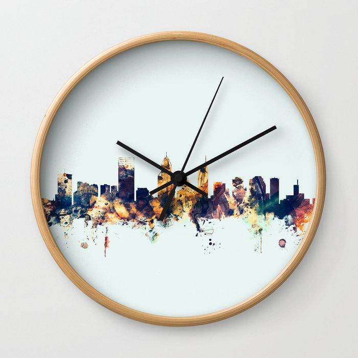 Perth Australia Skyline Wall Clock