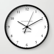 Type/Face 09 Wall Clock