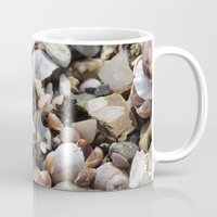 shells Mugs featuring Shells by BACK to THE ROOTS