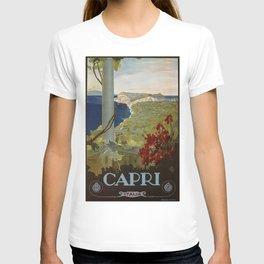 Isle of Capri Italian travel ad T-shirt