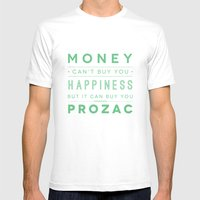 Prozac Nation MEDIUM Mens Fitted Tee White