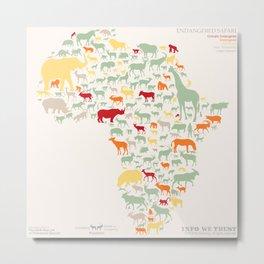 Endangered Safari - without animal names Metal Print
