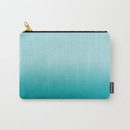 Ombre fade pastel blue trendy color way throwback retro palette 80s 90s style Carry-All Pouch