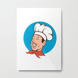 Chef Cook Baker Smiling Cartoon Metal Print