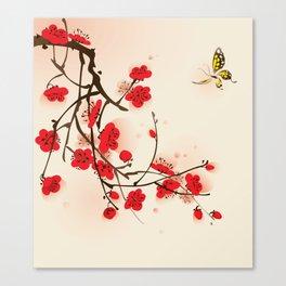 Oriental plum blossom in spring 011 Canvas Print