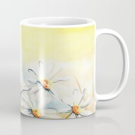 Daisies Watercolor Coffee Mug