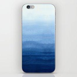 Blue Watercolor Ombré iPhone Skin