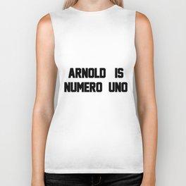 Arnold Is Numero Uno Mens RINGER Retro Birthday Gift birthday Biker Tank