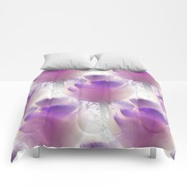Feather tulips as misty pattern Comforters