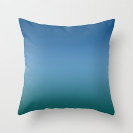 Blue Classic Green Light Dark Ombre Gradient Pattern Trendy Colors of Year 2020 Throw Pillow