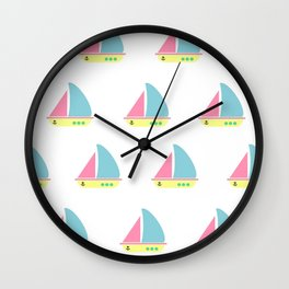 Sail with your dreams Wall Clock