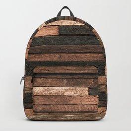 Vintage Wood Plank Backpack