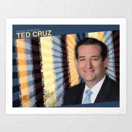Texas Senator Ted Cruz Art Print