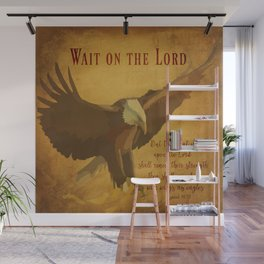 With Wings as Eagles Bible Verse Wall Mural