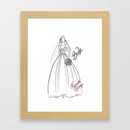 Blonde Bride in Ball Gown Framed Art Print