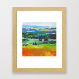 Beyond the Seven Hills Framed Art Print