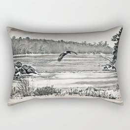 Winter Eagles Rectangular Pillow