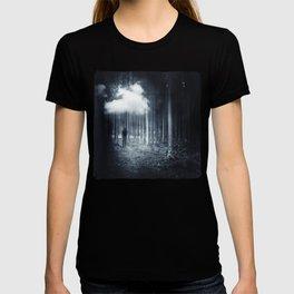 mindscape - man walking in forest T-shirt