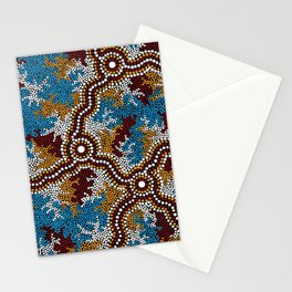 Authentic Aboriginal Art - Wetland Dreaming Stationery Cards
