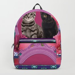 Two Cats Frame Backpack