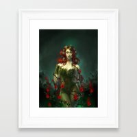 poison ivy Framed Art Prints featuring Poison Ivy by franzkatter