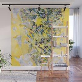 Yellow Flower Storm Wall Mural