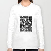 verse Long Sleeve T-shirts featuring Kendrick Control Verse by NinetyFive95