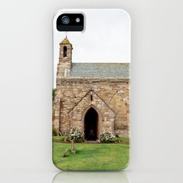 The quintessentially British church of St Mary, on Holy Island in Northumberland. iPhone Case
