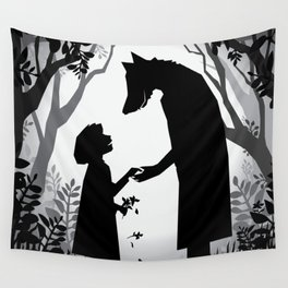 Meeting The Wolf Wall Tapestry