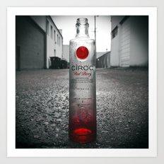 Alcoholic vision Art Print