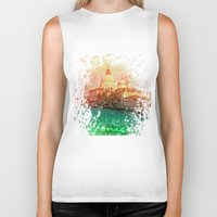 venice Biker Tanks featuring Venice by GingerRogers