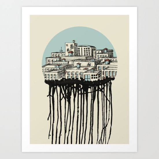 Primary City Art Print