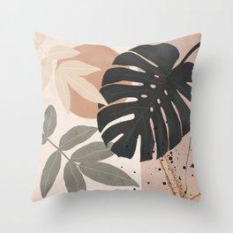 Abstract Tropical Art X Throw Pillow