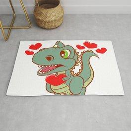 Valentine's Dinosaur Shirt For Animal Lovers T-shirt Design Jurassic Park Reptiles Zoo Love Couple Rug