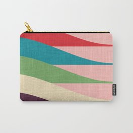 Mid century Modern Waves Pink Carry-All Pouch