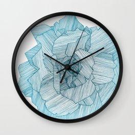 Linear Rose Wall Clock