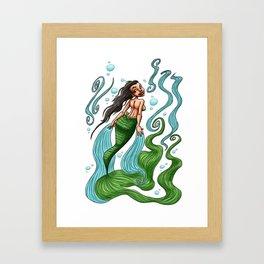 Iara, legend of Brazilian folklore Framed Art Print