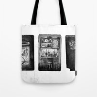 alchemy Tote Bags featuring Alchemy by Mutt Ink