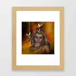 Beautiful fantasy women Framed Art Print