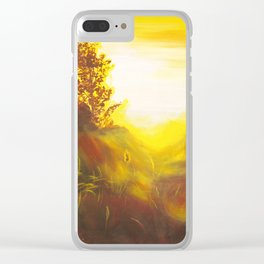 Dancing Sunset Clear iPhone Case