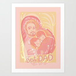 Best DAD Art Print