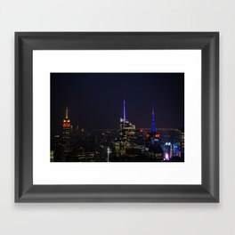 NYC Iconic Night Sky Framed Art Print